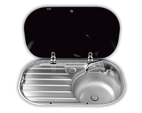 caravan kitchen sinks smev sink drainer with glass lid 8306 grasshopper