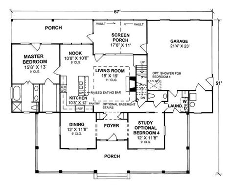 country style floor plan 4 bedrm 1980 sq ft country house plan 178 1080