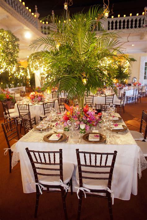 elegant tropical wedding reception elizabeth anne