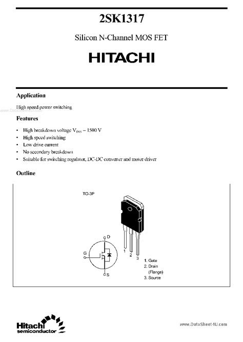 k1317 68829 pdf datasheet ic on line