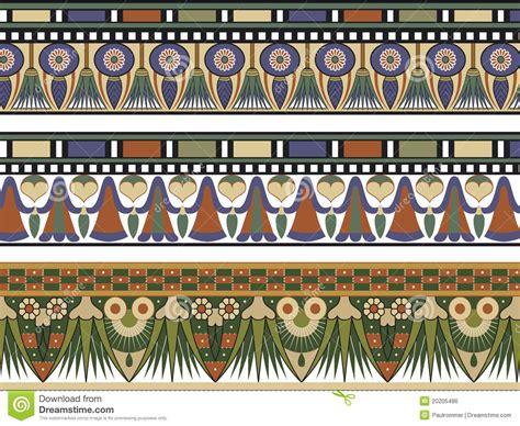 cenefas egipcias set of three border stock vector image 20205486