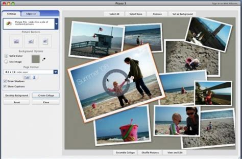 Picasa Photo Editor And Album Photo Album Powerpoint Template