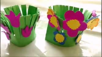 Easy paper craft flower garden making for kids paper craft diy