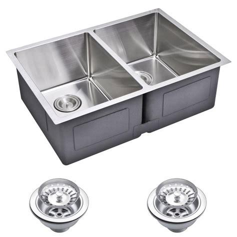 27 undermount kitchen water creation undermount small 27 in 0 hole double bowl
