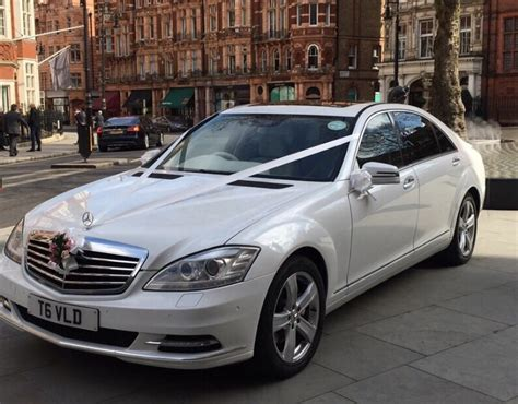 White Mercedes   S Class Mercedes For Wedding Hire In London