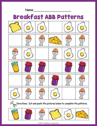 abb pattern video breakfast abb pattern worksheet