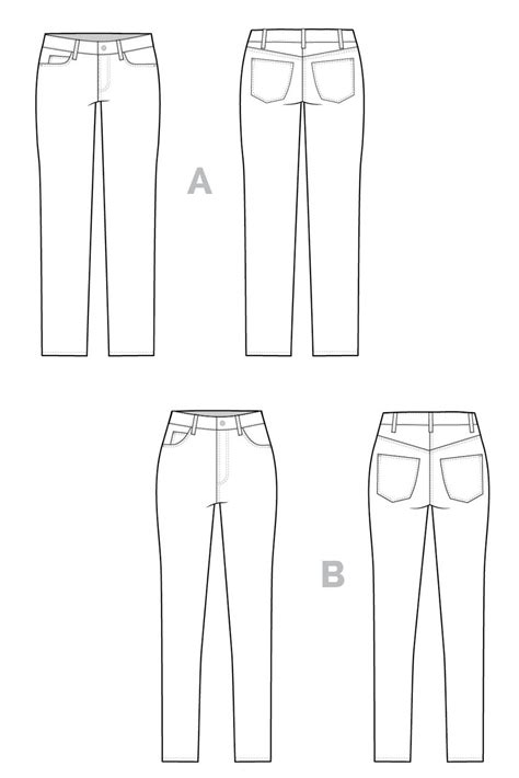 jeans pattern pdf ginger skinny jeans pattern high rise low rise jeans