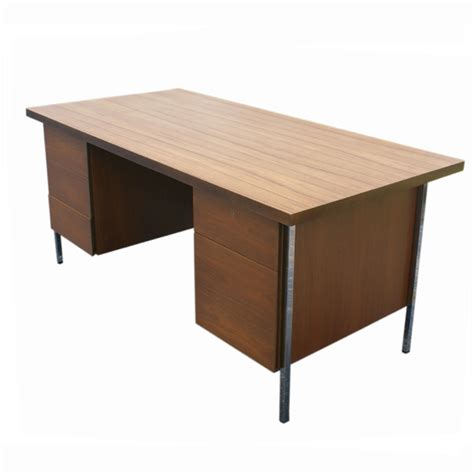 mid century modern florence knoll wood top desk ebay