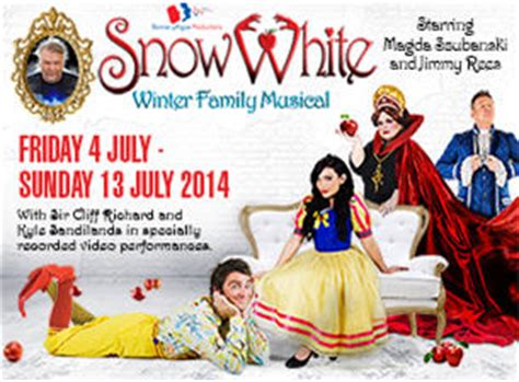 White Musical Tickets - snow white tickets children s and theatre show