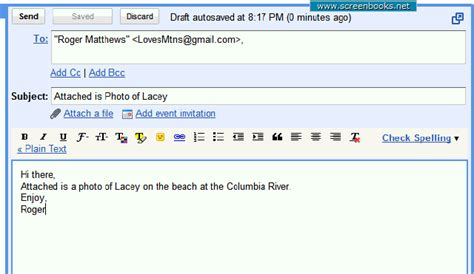 how to layout a email 10 attach photo to email basic email layout