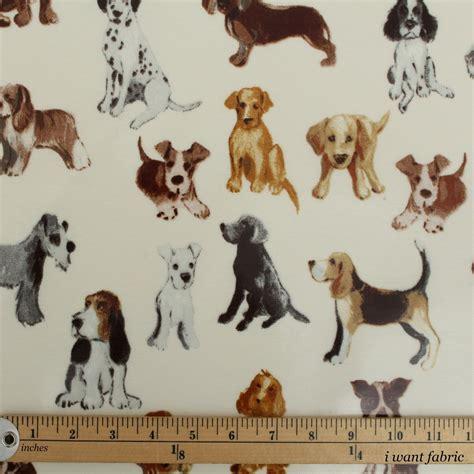 Dog Pattern Fabric Uk | dog print pattern pvc oilcloth tablecloth covering kitchen