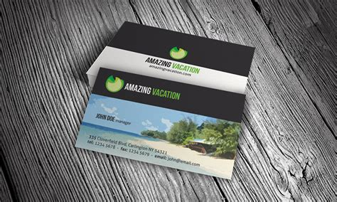 Vacation Card Template by Island Vacation Business Card Template 187 Free
