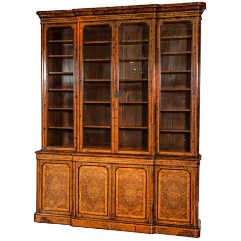 breakfront library bookcase circa 1850 at 1stdibs