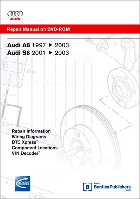 audi a8 s8 repair manual on dvd rom 1997 2003 xxxad25