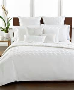 Macys Duvet Cover Closeout Hotel Collection Modern Hexagon White Bedding