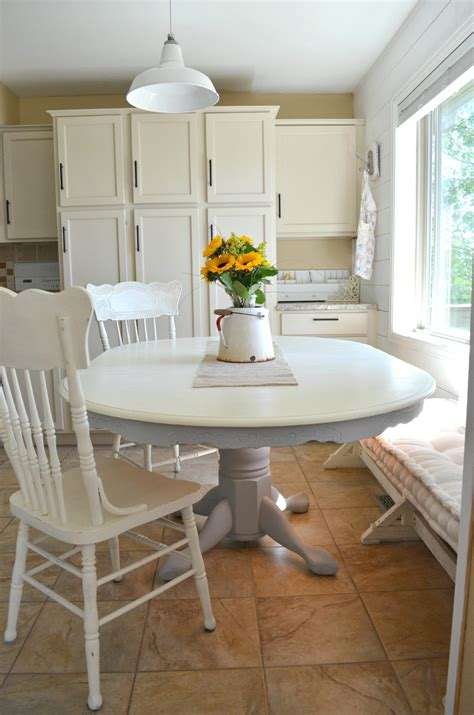 painting oak table with chalk paint chalk paint dining table makeover vintage nest
