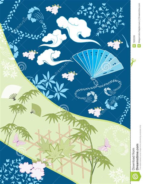 japanese design japanese design elements iii royalty free stock image