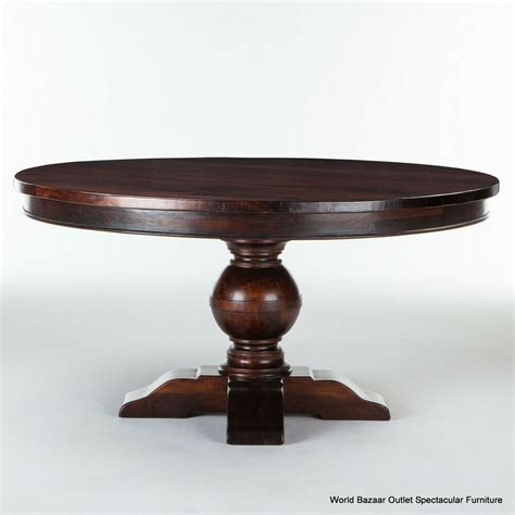 dining table solid reclaimed exotic wood dark