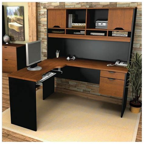 pc desk design oak corner computer desk with hutch home office desk