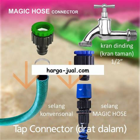 Kran Air Biasa jual konektor kran air selang fleksibel magic hose harga
