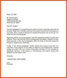 Business Letter Format Pat Sle Of Business Letter Moa Format