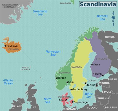 map of scandinavian countries nordic countries travel guide at wikivoyage