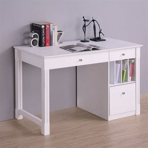 White Desk For by White Desk Student Storage Desk W Keyboard Tray