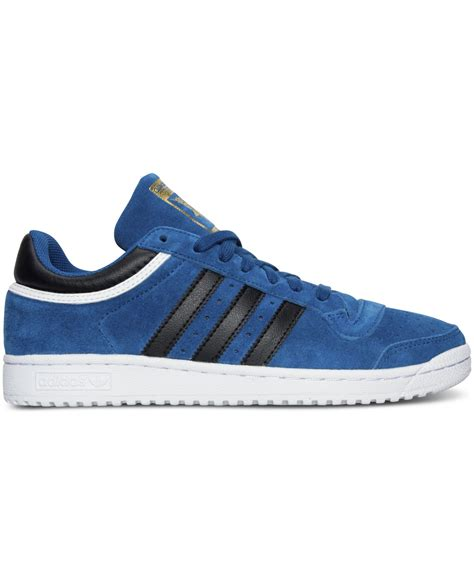 Adidas Casual Slip On Suede Hitam adidas originals s top ten lo suede casual sneakers from finish line in blue for lyst