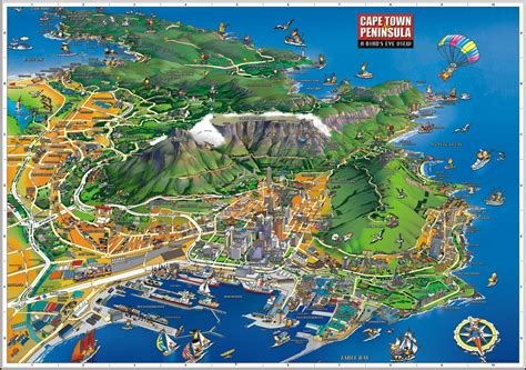 map view cape town birds eye view map cape town africa mappery