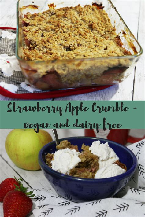 strawberry apple crumble vegan and dairy free