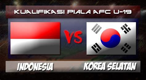 hasil skor akhir afc u 19 timnas indonesia vs korea