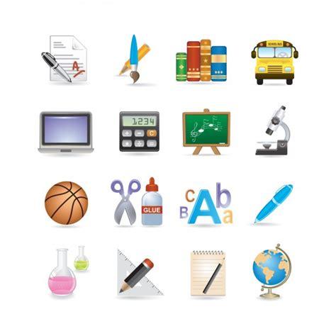 imagenes escolares para whatsapp set de iconos de colegio descargar vectores gratis