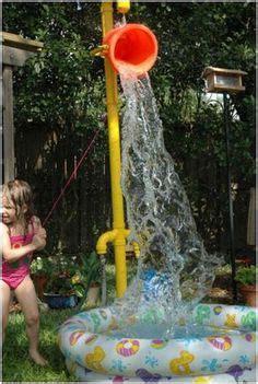 how to build a backyard water park water sprinkler on pinterest sprinkler lawn and pvc pipe sprinkler