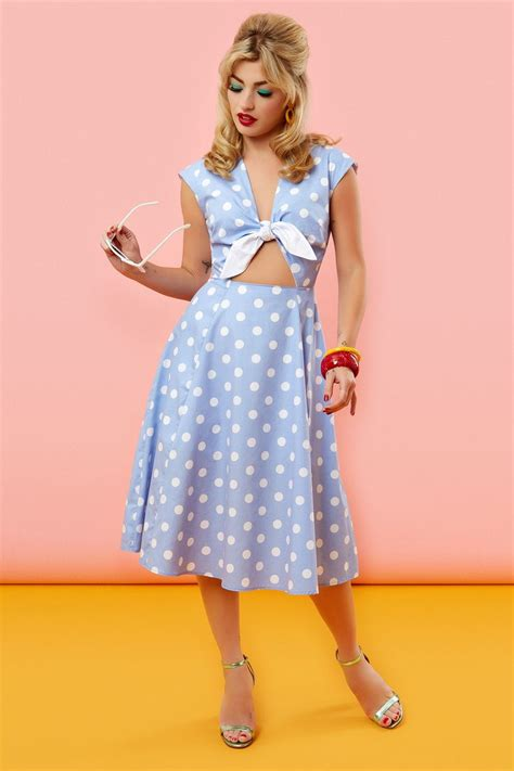 Blue Sweet Retro Dress From Tara Deluxe 12 best spot on images on fashion vintage dresses and dress black