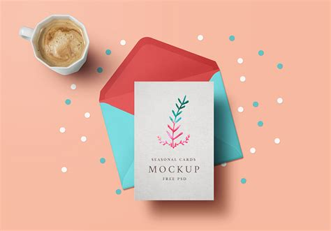 Free S Day Card Photoshop Templates by Greeting Card Mockup Psd Graphicsfuel