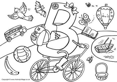 coloring pages that start with the letter b 16 best images of i spy preschool worksheet i spy