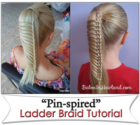 step by step ladder braid how to do french braid ponytail rachael edwards