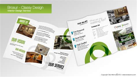 contoh desain layout company profile desain company profile brosur interior design service
