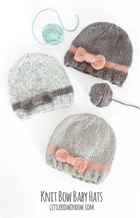how to knit a newborn baby hat for beginners bow baby hat knitting pattern window