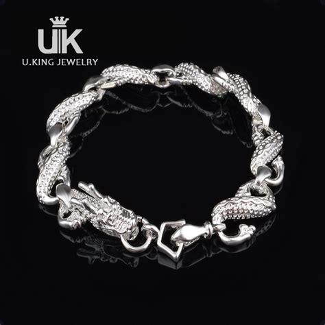925 sterling pria perak gelang naga gelang untuk pria