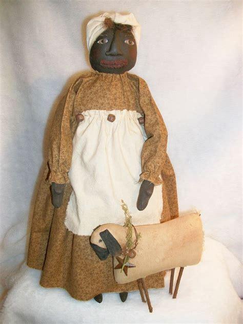 pattern for art doll primitive black doll folk art quot pattern quot mammy sheep by