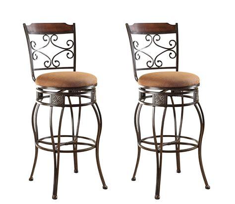 Amazon Com Acme 96045 Set Of 2 Tavio Swivel Bar Chair 29 Bar Chair Swivel