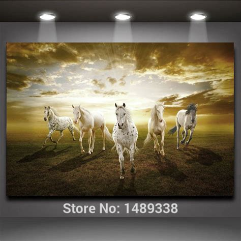aliexpress com buy 4 piece picture running white horse 1 piece picture running white horse modern home wall decor
