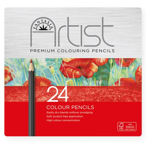 fantasia colored pencils fantasia premium artist color pencils set of 24
