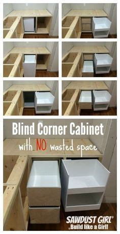 how to build a blind corner how to build pull out shelves for a blind corner