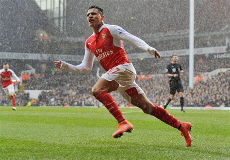 alexis sanchez to spurs alexis sanchez sends defiant message to arsenal fans ahead