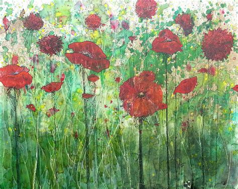 painting java java poppy field painting by freeman