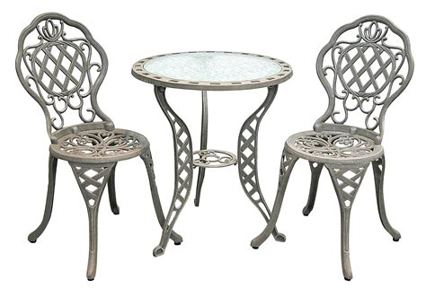 Cast Iron Bistro Chairs Patio Furniture Bistro Set Cast Aluminum Iron Regis
