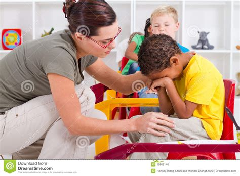 how to comfort a crying person teacher comfort student stock photo image of educator