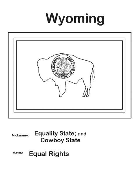 usa printables wyoming state flag state of wyoming